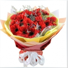 12 Red Gerberas in Bouquet