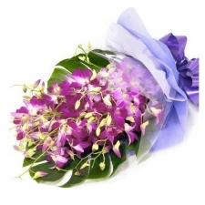 ​12 Orchids Hand Bouquet.