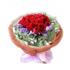 12 Red Roses Bouquet in bouquet