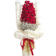 50 Red Roses in Bouquet